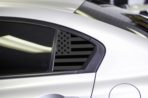 American Flag Quarter Window Decal Set (2012-2015 Civic Sedan)