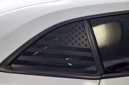 American Flag Quarter Window Decal Set (2010-2015 Chevy Camaro)