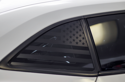 American Flag Quarter Window Decal Set (2010-2015 Chevy Camaro)