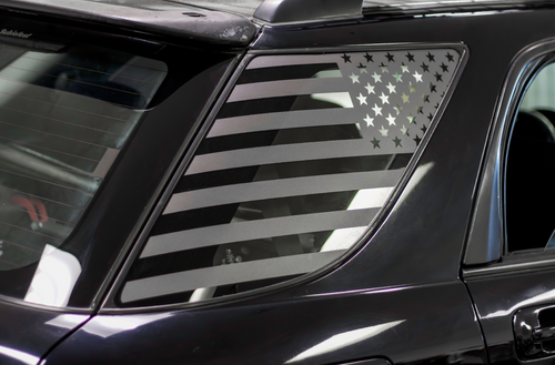 American Flag Quarter Window Decal Set (2002-2007 Impreza WRX Wagon)