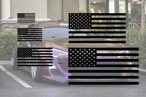 Universal American Flag Window Decal Set