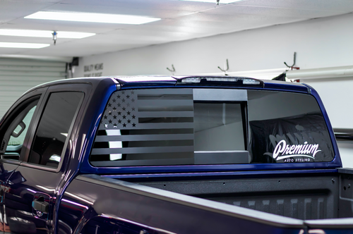 American Flag Rear Driver Window Decal (2016-2019 TITAN XD)