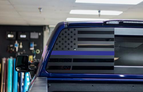 Thin Blue Line American Flag (2016-2019 TITAN XD)