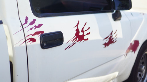 Blood Splatter Vinyl Decal Kit