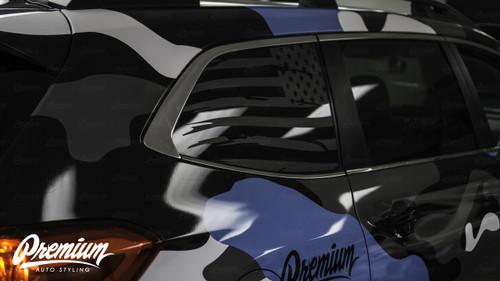 Distressed Flag Quarter Window Decal | 2019 Subaru Ascent
