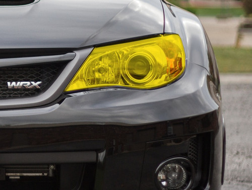 Yellow Headlight Tint Overlay | 2008-2014 Subaru WRX / STI