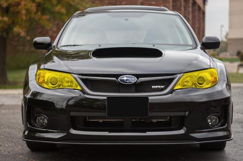 Yellow Headlight Tint Overlay | 2008-2014 Subaru WRX / STI