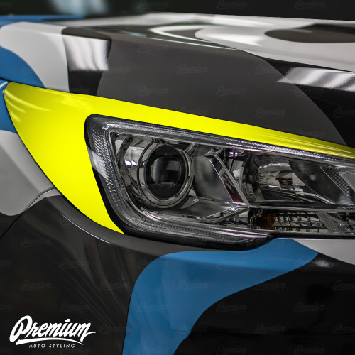 Headlight Amber Delete with Eyelid Overlay - Gloss Black Vinyl | 2019 Subaru Ascent