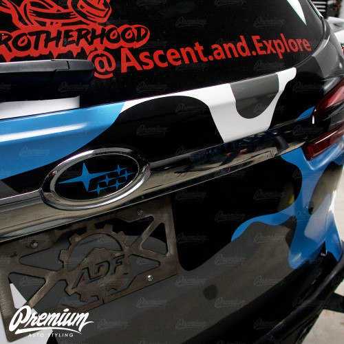 Rear Emblem in Hyper Blue