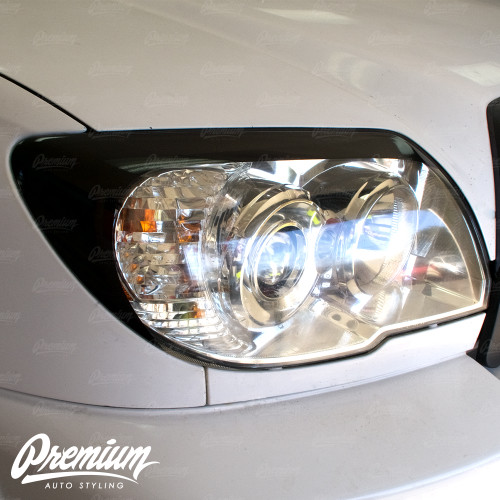 Headlight Amber Delete with Eyelid Vinyl Overlay V1 - Gloss Black | 2003-2009 Toyota 4Runner (4th Gen)