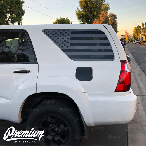 American Flag Quarter Window Decal | 2003-2009 Toyota 4 Runner
