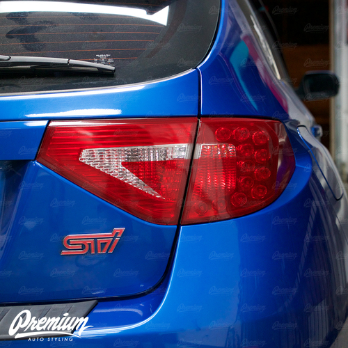 Tail Light Tint Overlays w/ Custom Cutouts (Option H) | 2008-2014 Subaru WRX & STI Hatchback