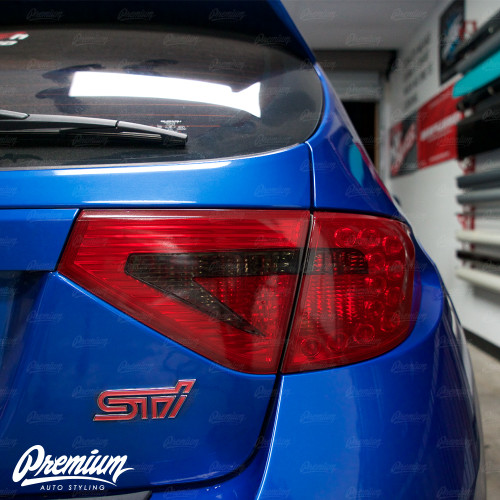 Tail Light Tint Overlays w/ Custom Cutouts (Option I) | 2008-2014 Subaru WRX & STI Hatchback