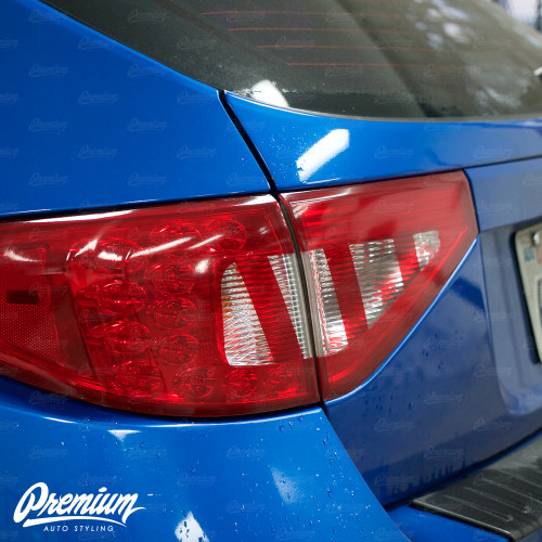 Tail Light Tint Overlays w/ Custom Cutouts (Option Q) | 2008-2014 Subaru WRX & STI Hatchback
