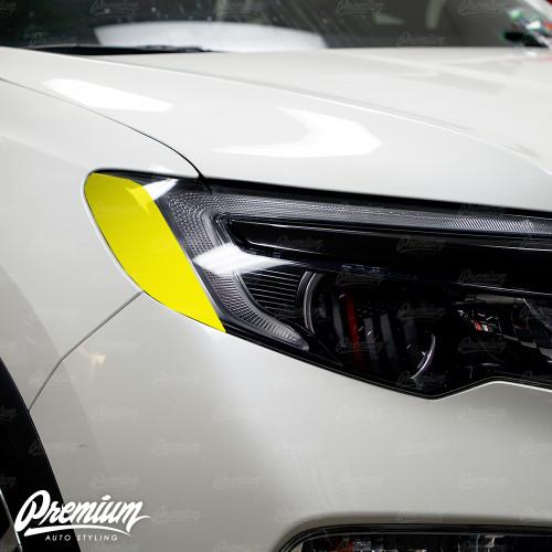 Headlight Amber Delete V1 Gloss Black Vinyl Overlay | Honda Pilot 2016-2018