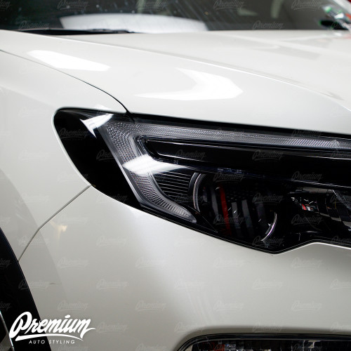 Headlight Amber Delete V1 Gloss Black Vinyl Overlay   Honda Pilot 2016-2018