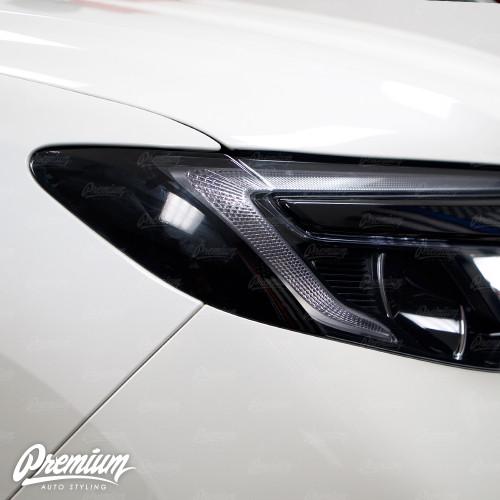 Headlight Amber Delete V2 Gloss Black Vinyl Overlay | Honda Pilot 2016-2018