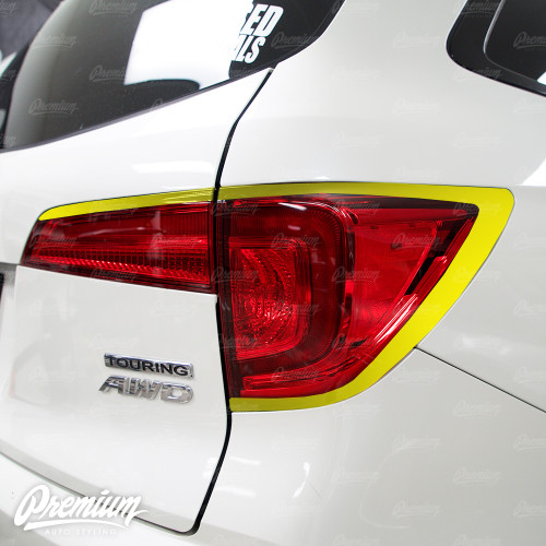 Taillight Outer Trim Lexus Style Gloss Black Vinyl Accent Overlay | Honda Pilot 2016-2018