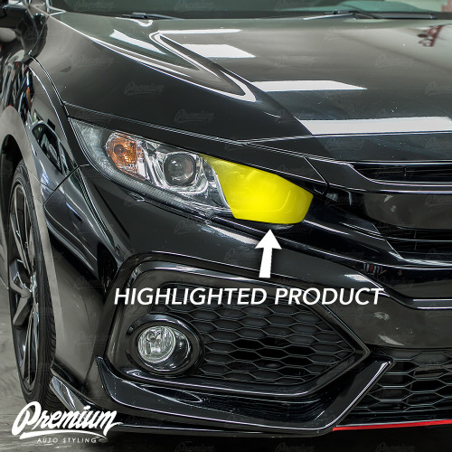 Headlight High Beam Smoked Tint Overlays | Honda Civic Sedan 2016-2018