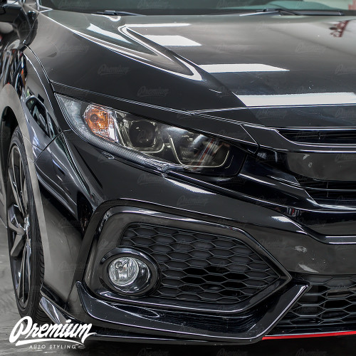 Headlight Face with DRL Cut Out Smoked Tint Overlay | Honda Civic Sedan 2016-2018
