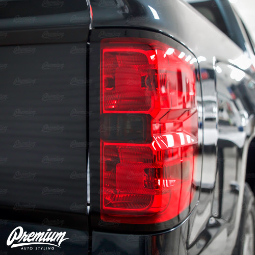 Taillight Reverse Light Red Tint Overlay | Chevy Silverado 2018