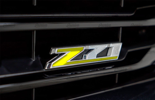Z71 Emblem Vinyl Inlay ( Z Only ) - Multiple Colors Available | Chevy Silverado 2018