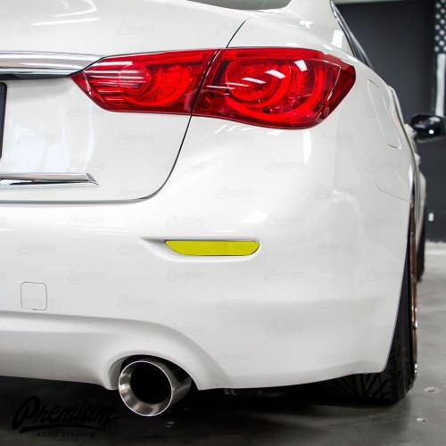 Rear Bumper Reflector Smoke Tint Overlay | Infiniti Q50 (2014-2017)