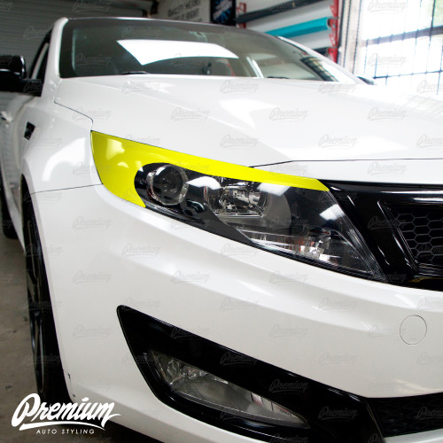 Headlight Amber Delete with Eyelid V1 - Gloss Black | Kia Optima 2010-2015