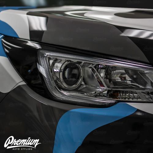 Headlight Amber Delete with Eyelid Overlay - Smoke Tint | 2019 Subaru Ascent