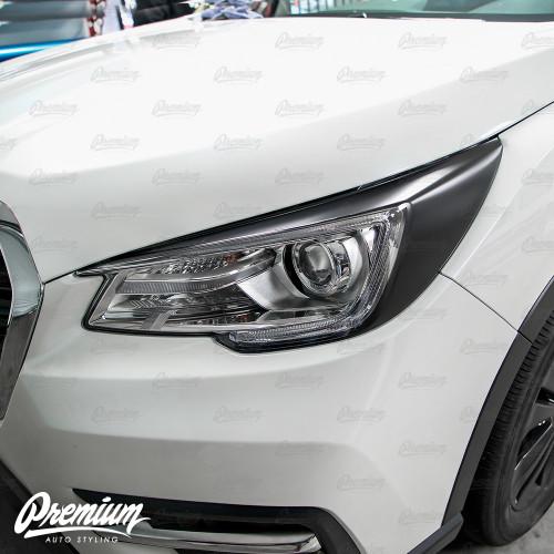 Headlight Amber Delete with Eyelid Overlay - Satin Black Vinyl   2019-2021 Subaru Ascent