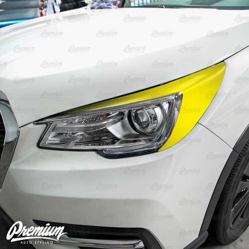 Headlight Amber Delete with Eyelid Overlay - Satin Black Vinyl | 2019 Subaru Ascent