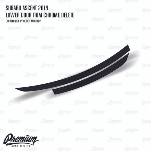 Lower Door Trim Chrome Delete - Satin Black Vinyl   2019-2020 Subaru Ascent