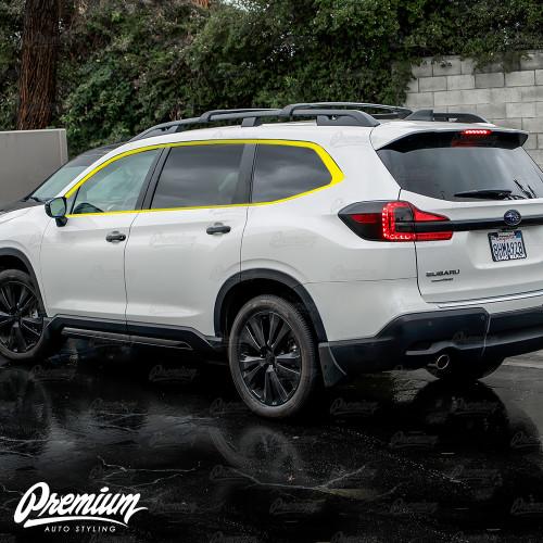Window Trim Chrome Delete Kit - Satin Black Vinyl   Subaru Ascent 2019