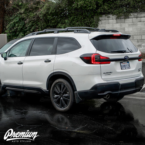 Trunk Trim Chrome Delete - Satin Black Vinyl Overlay | Subaru Ascent 2019