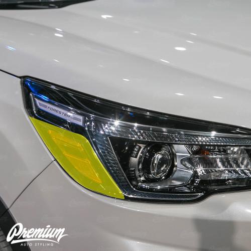 Headlight Amber Delete Overlay - Gloss Black Vinyl | 2019 Subaru Forester
