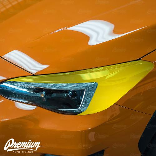 Headlight Amber Delete With Eyelid Gloss Black Vinyl Overlay | Subaru Crosstrek 2018-2020 (Limited Model Only)