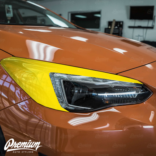 Headlight Amber Delete With Eyelid Smoke Tint Overlay | Subaru Crosstrek 2018-2020 (Limited Model Only)