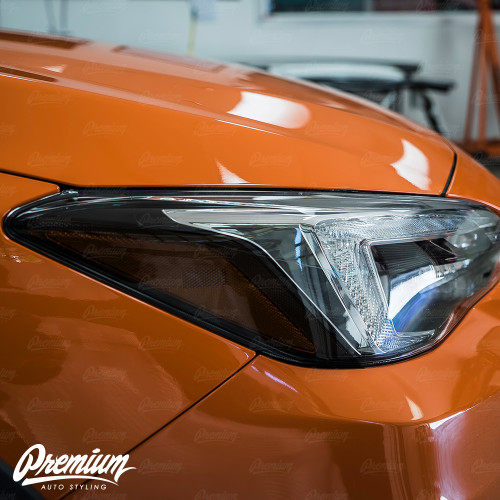 Headlight Amber Delete Smoke Tint Overlay | Subaru Crosstrek 2018+ (Limited Model Only)