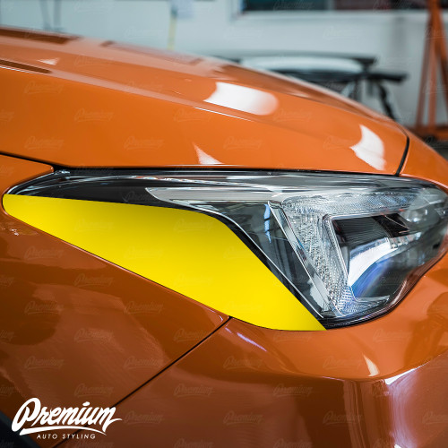 Headlight Amber Delete Gloss Black Vinyl Overlay | Subaru Crosstrek 2018-2020 (Limited Model Only)