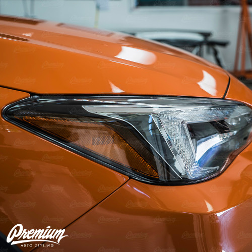 Headlight Amber Delete Gloss Black Vinyl Overlay | Subaru Crosstrek 2018+ (Limited Model Only)