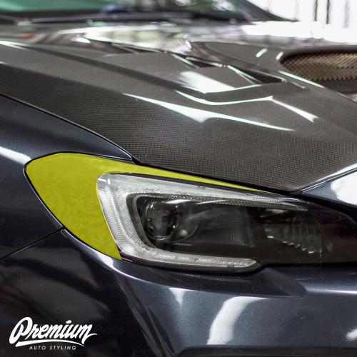 Headlight Amber Delete With Eyelid Vinyl Overlay - Shadow Black   Subaru WRX/STI 2015-2017