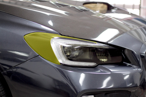 Headlight Amber Delete With Eyelid Vinyl Overlay - Carbon Fiber | Subaru WRX/STI 2015-2017