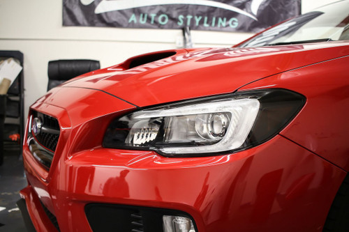 Headlight Amber Delete With Eyelid Tint Overlay - Smoke | Subaru WRX/STI 2015-2017