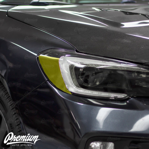 Headlight Amber Delete Overlay - Smoke Tint   2015-2017 Subaru WRX/STI   2018-2020 WRX/WRX PREMIUM
