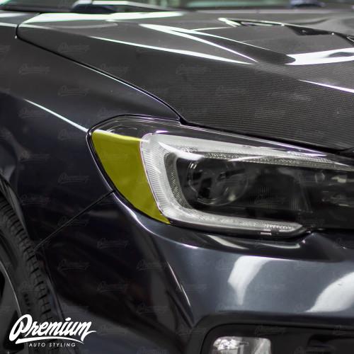 Headlight Amber Delete Overlay - Smoke Tint | 2015-2017 Subaru WRX/STI | 2018-2020 WRX/WRX PREMIUM