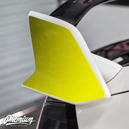 Wing End Plate Vinyl Overlay - Gloss Black | 2016-2018 Honda Civic Type R