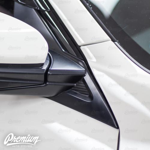 Mirror Accent Insert Vinyl Overlay - Carbon Fiber | 2016-2018 Honda Civic Type R