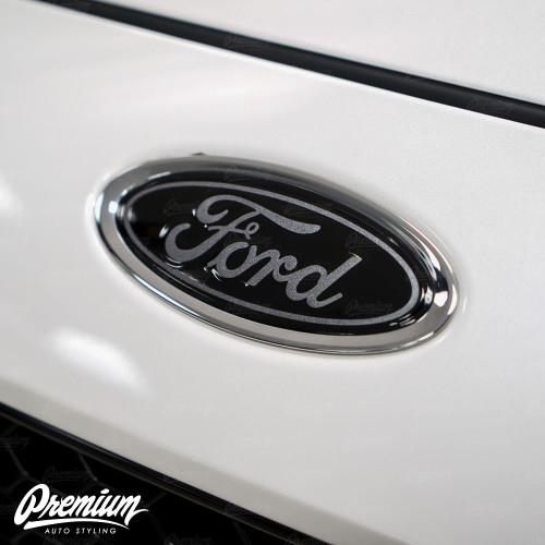 Front & Rear Emblem Vinyl Overlay | 2015+ Ford Focus ST