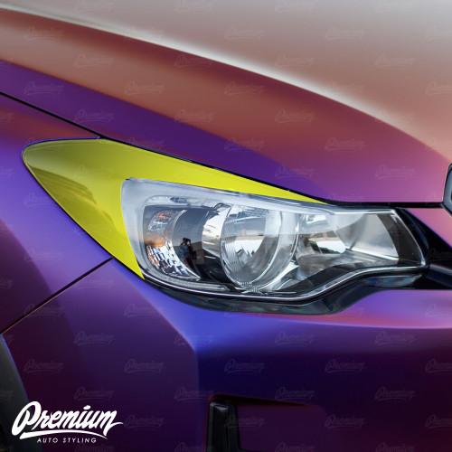 Headlight Amber Delete with Eyelid Overlay | 2013-2016 Subaru Impreza