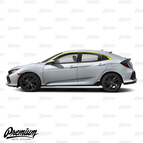 Window Trim Chrome Delete Vinyl Overlay Kit - Gloss Black | 2016-2018 Honda Civic Hatchback